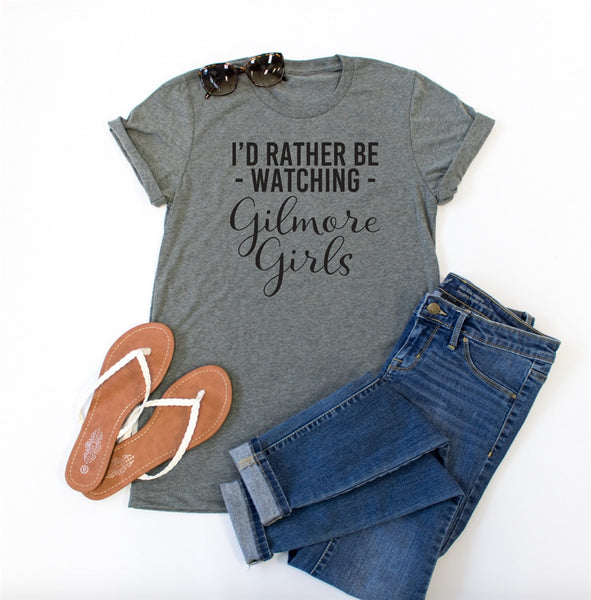 I'd Rather be Watching Gilmore Girls Crew Neck Tee