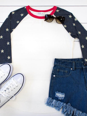 Patriotic Raglan - Tickled Teal LLC