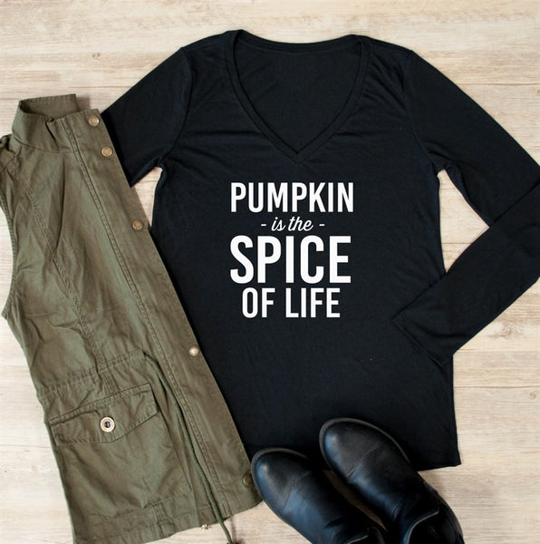 Pumpkin is the Spice of Life Long Sleeve - Tickled Teal LLC