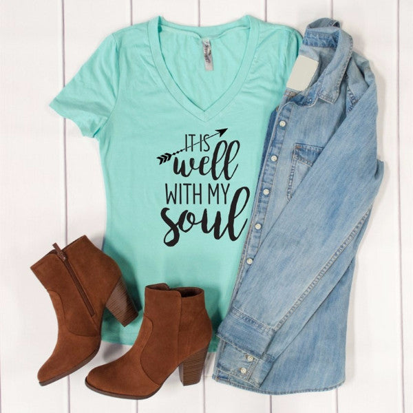 It is well with my soul Tshirt - Tickled Teal LLC