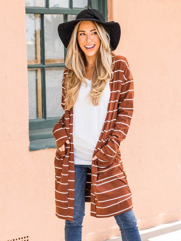Sadie Cardigan - Rust Brown
