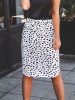Iris Weekend Skirt - White Dot