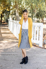 The Scarlet Cardigan - Mustard - Tickled Teal LLC