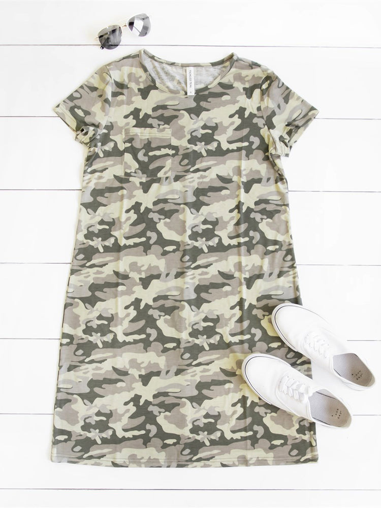Kami Pocket Dress - Camo