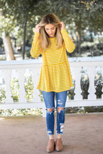 The Ember Top - Yellow - Tickled Teal LLC