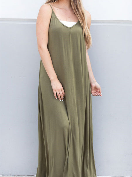 The Everyday Tank Dress - Olive