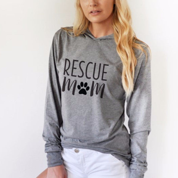 Rescue Mom Graphic Hoodie - Tickled Teal LLC