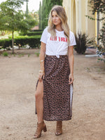 The Reign Maxi Skirt - Brown
