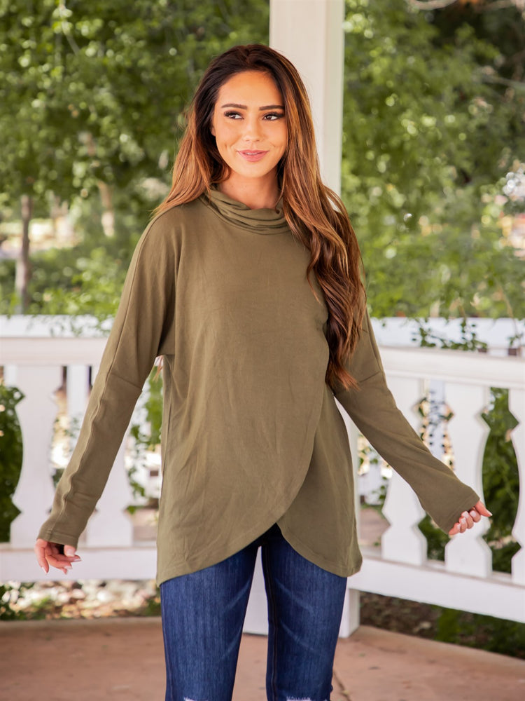 Athena Top - Olive