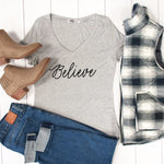 Believe Tshirt - Tickled Teal LLC