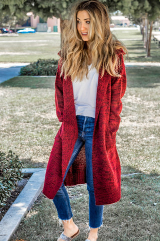 The Tessa Cardigan - Red - Tickled Teal LLC
