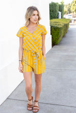 The Brooklyn Romper - Yellow