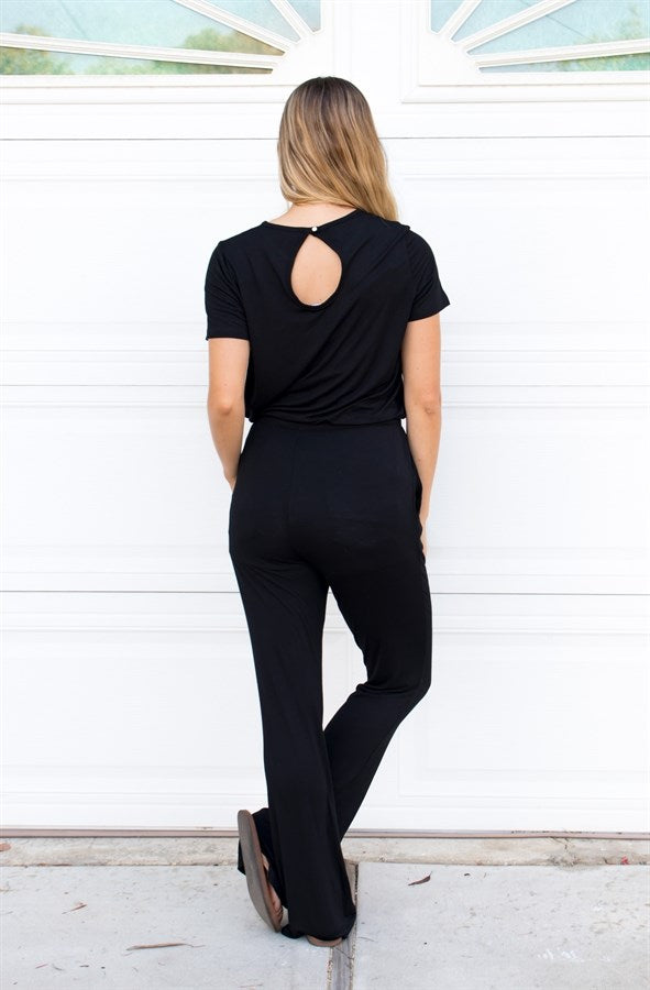 Keyhole Jumpsuit - Tickled Teal LLC