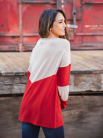 The Cassidy Top - Tan/Red