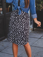 Iris Weekend Skirt - Black Dot