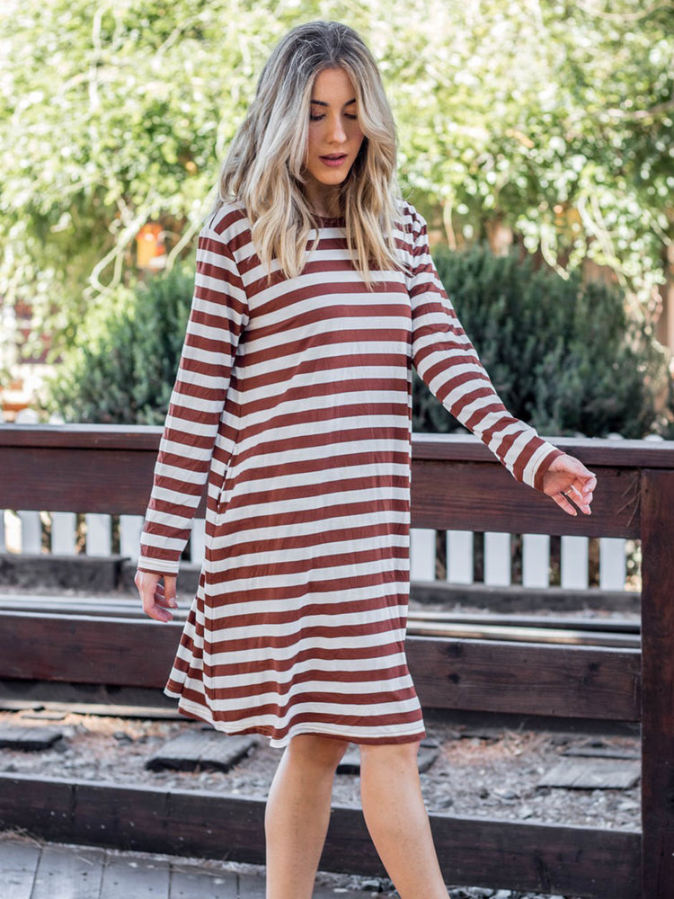 The Jamey Dress - White/Brick