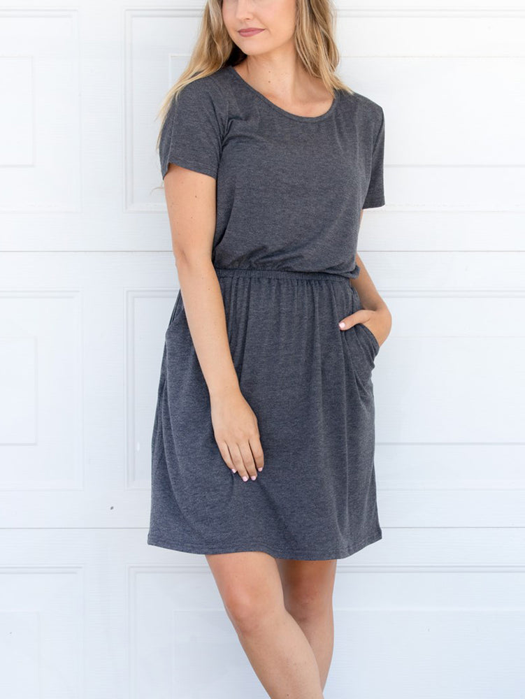 The Kolbie Dress - Charcoal