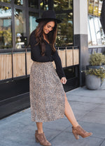 The Candace Skirt - Small Brown Cheetah