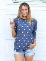 Patriotic Star 3/4 Sleeve Tee