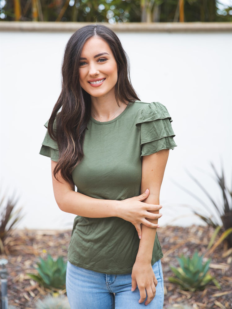 Rebekah Top - Olive