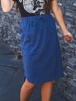 Solid Weekend Skirt - Navy