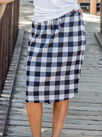 Buffalo Plaid Weekend Skirt - White - S-3X