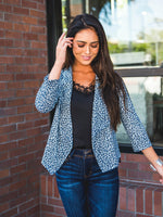 Floral Blazer - Small Blue Floral