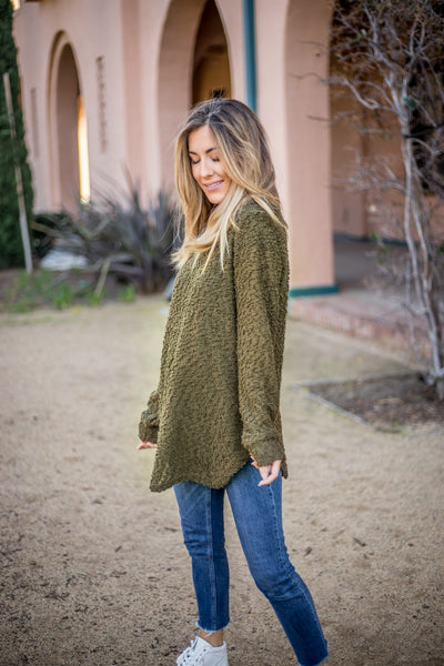 The Callie Sweater - Green