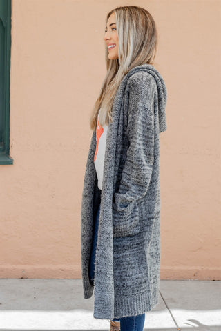The Tessa Cardigan - Charcoal