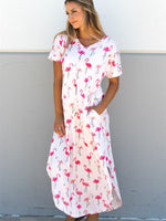 Flamingo Relaxed Maxi Dress