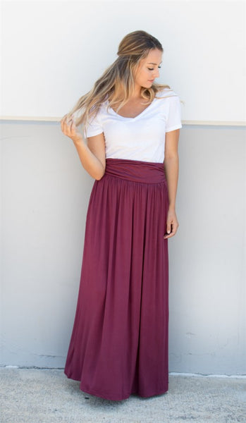 Pocket Maxi Skirt - Tickled Teal LLC