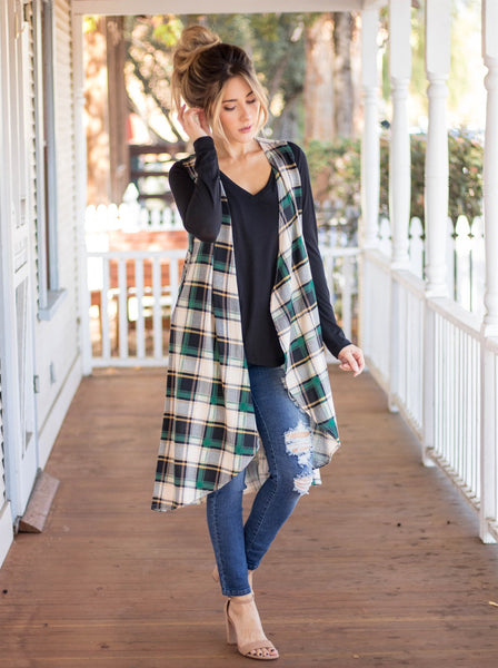 The Briley Vest - Green - Tickled Teal LLC