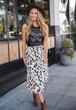 The Candace Skirt - Cream Leopard