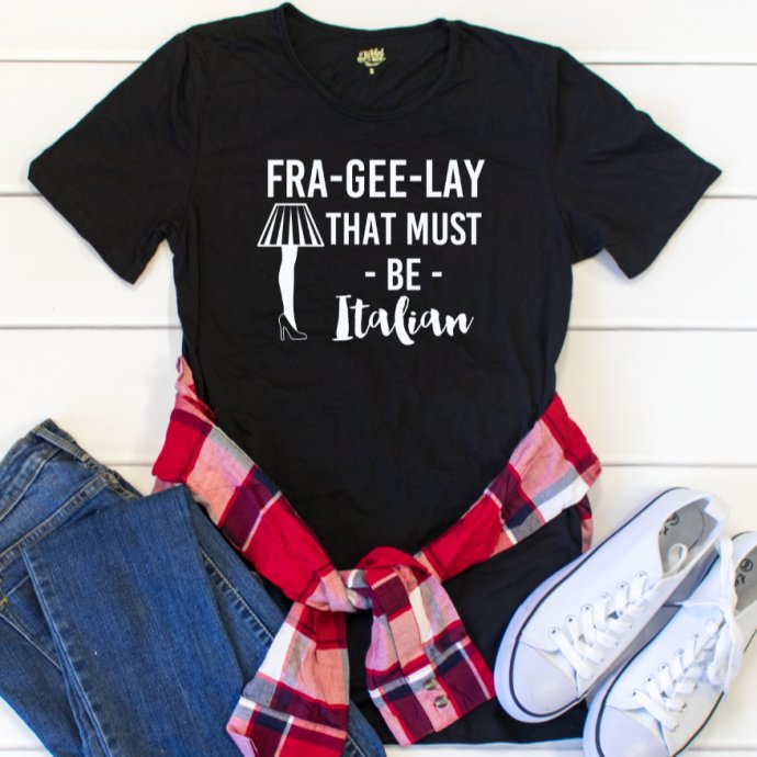 Fra-gee-lay Crew Neck Tee - Tickled Teal LLC