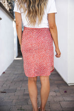 Indy Weekend Skirt - Red Floral