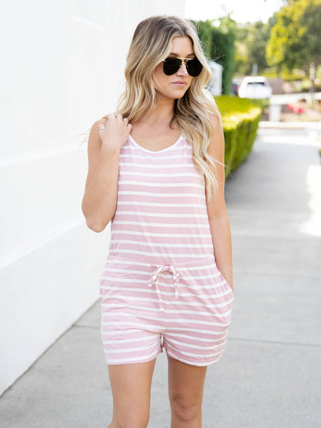 The Daphne Romper - Pink