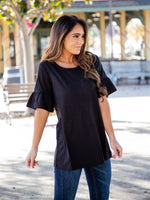 Solid Brooklyn  Top - Black