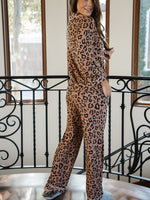 The Nelly Pajama Set - Brown Leopard
