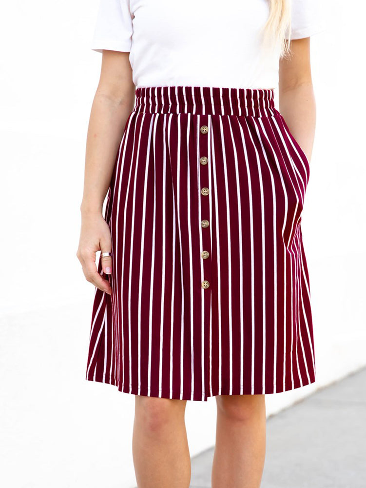 The Charlotte Skirt - Burgundy