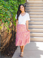 Amara Skirt - Small Red floral