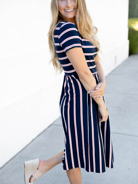 The Eliana Dress - Navy