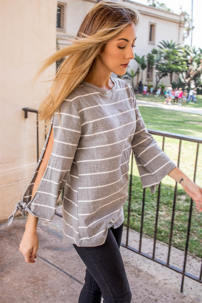 Noelle Top - Gray