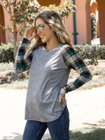 The Brier Top - Gray/Green