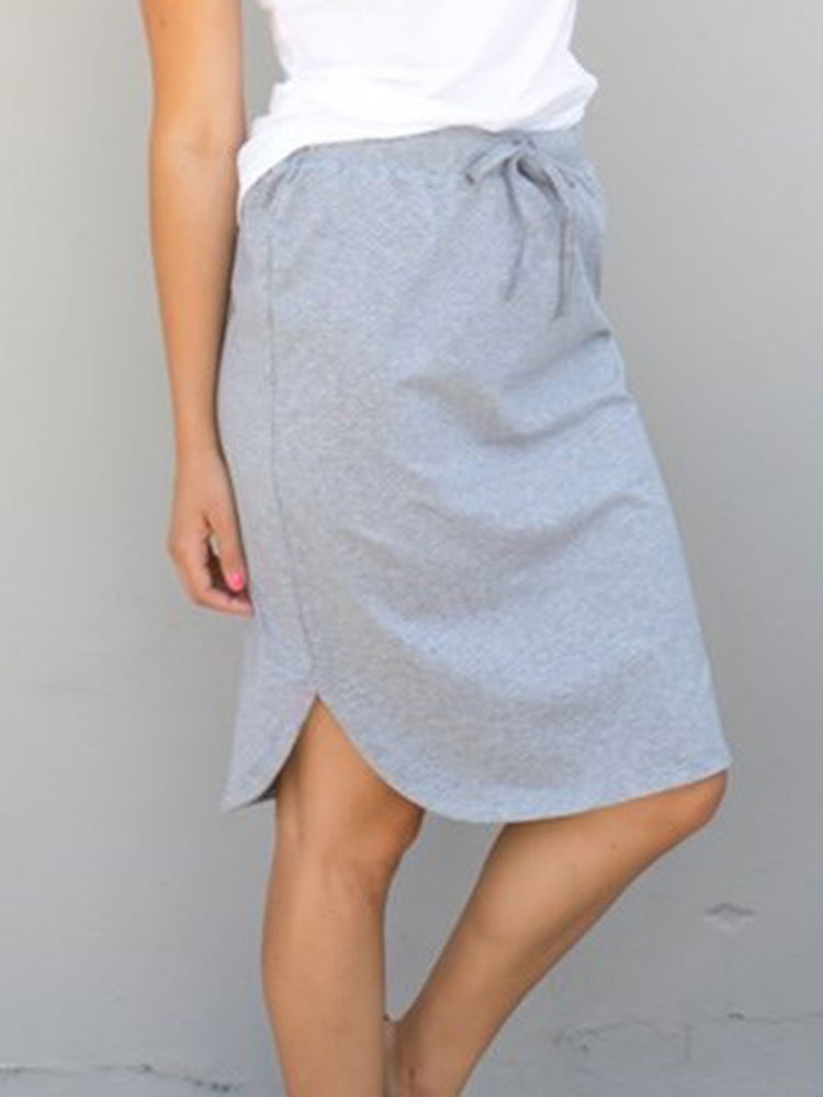 Solid Weekend Skirt - Gray