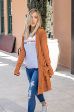 The Aubrey Cardigan - Burnt Orange
