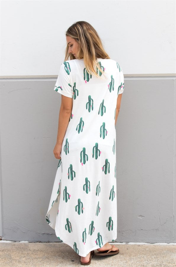 73b602132ca Cactus Relaxed Maxi Dress – Tickled Teal LLC
