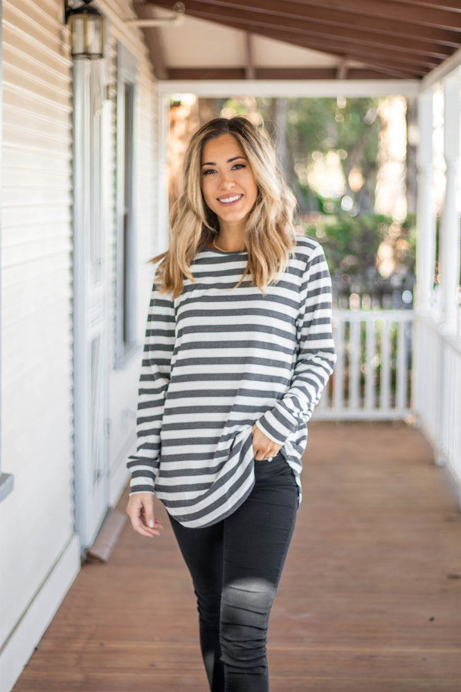 The Gradie Top - Charcoal