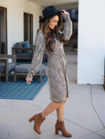 The Triana Dress - Brown Cheetah
