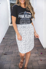 Indy Weekend Skirt - Black & White Polkadots