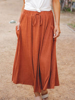 The Olive Pocket Skirt - Orange